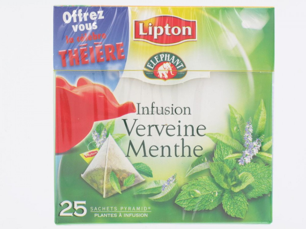 infusion verveine menthe lipton 25 sachets th s infusions tisanes proxilivre. Black Bedroom Furniture Sets. Home Design Ideas
