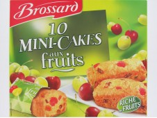 Mini-cakes aux fruits Brossard x10  300 grs-