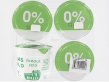 Fromage frais nature Malo  0% M.G. x4-
