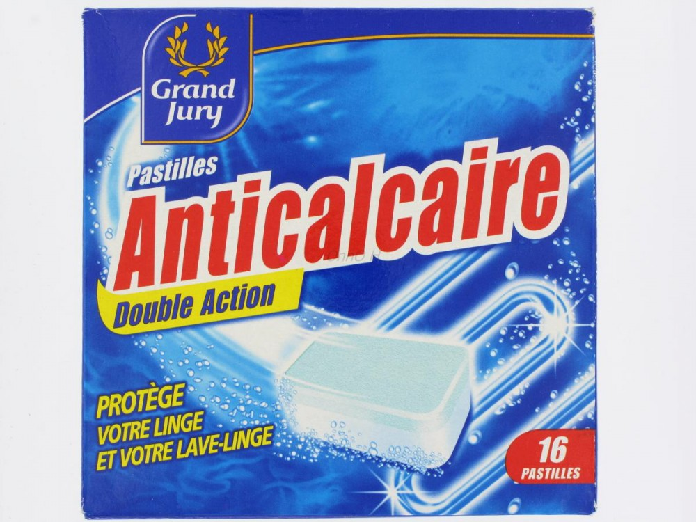 Pastilles anti calcaire double action grand jury x16 for Produit anti calcaire
