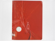 Cahier 96 pages rouge 17 x 22 cms-
