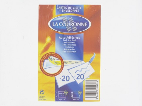 Cartes De Visite Enveloppes Auto Adhesives La Courrone X20