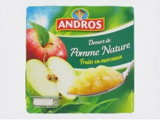 Compote pomme nature Andros x4-