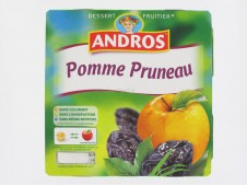 Compote pomme pruneau Andros x4-